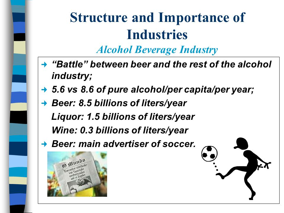 Examples of alcohol ads Beer - Humor, happiness, sensuality, refreshment properties, relationship to national passions (soccer, carnival, etc.).