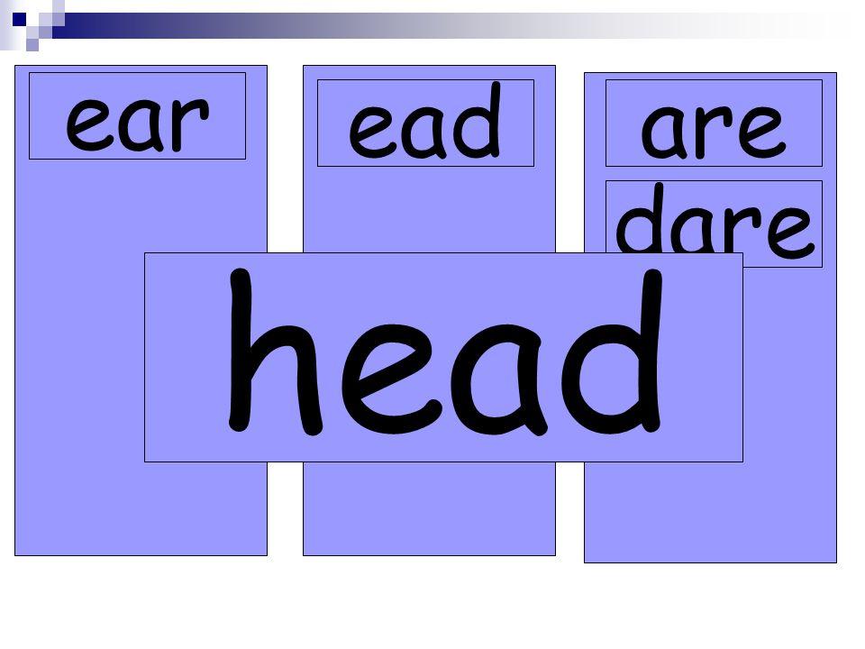 ear eadare dare head