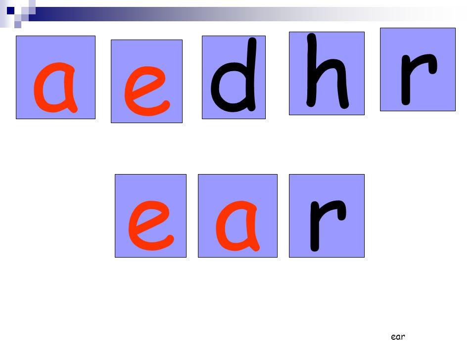 ear eadare dare head read