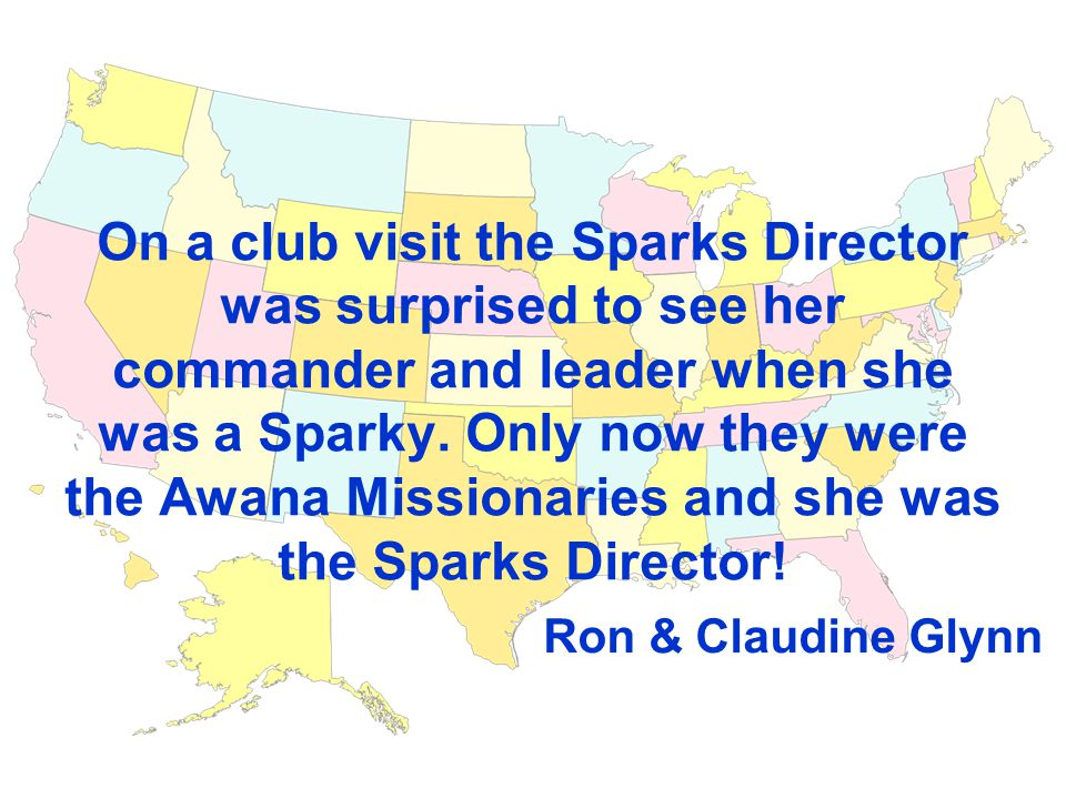 On a club visit the Sparks Director was surprised to see her commander and leader when she was a Sparky.