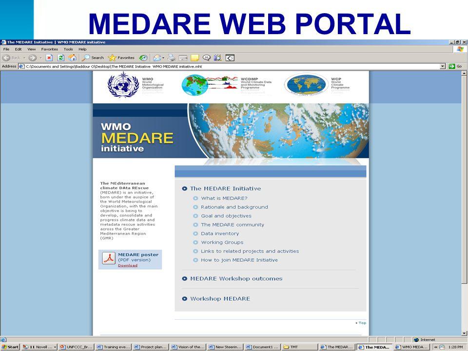 MEDARE WEB PORTAL