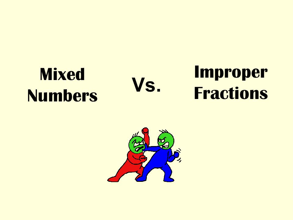 Vs. Mixed Numbers Improper Fractions