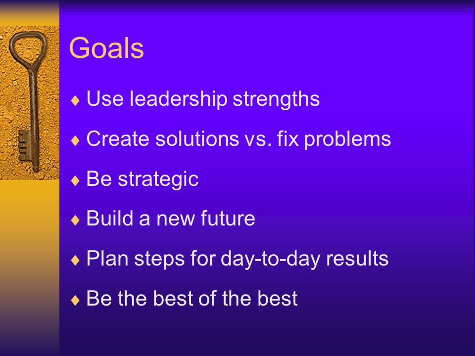 USTHEM My Goals Their Goals Problems Zone Fix Problems Old Stories NO Blame Solutions-OrientedLeadershipModel Solutions-Oriented Leadership Model Solutions Zone Collaborate Co-Create New Stories US THEM WE OURS WE Copyright 2002-2008 J.Jones Consulting, Inc.
