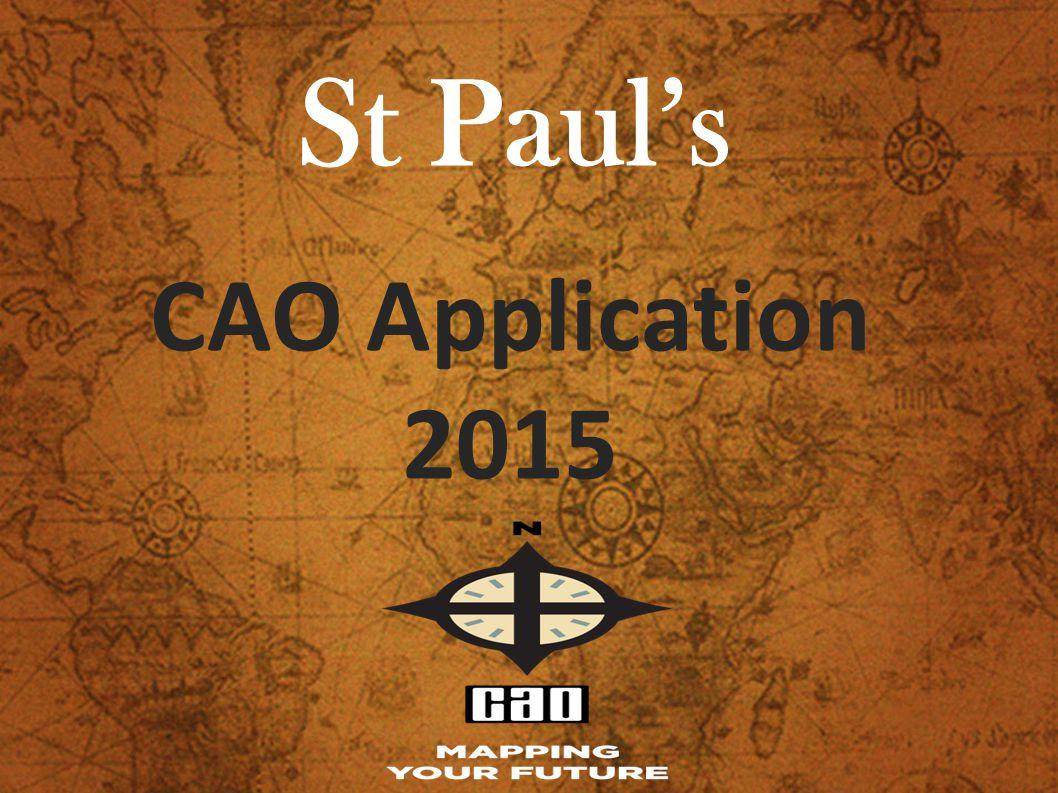 St Paul's CAO Application 2015