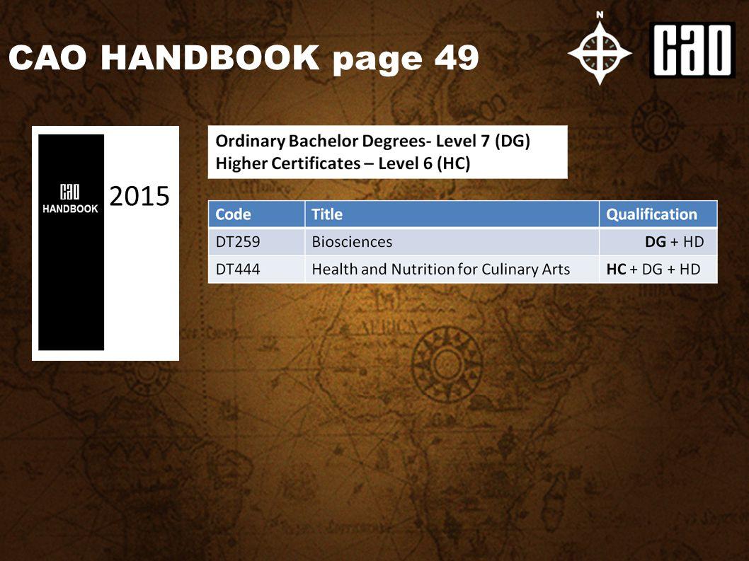 CAO HANDBOOK page 49 2015
