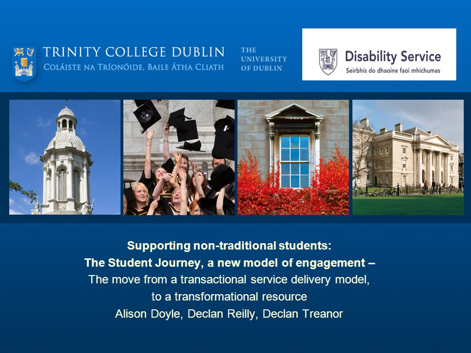 DS Philosophy Move from a transactional to a transformational resource; A three phase approach in supporting students as they transition into, through and out of college; Encourages the student to work as independently as possible… Focus is not on rehabilitating the disabled student.