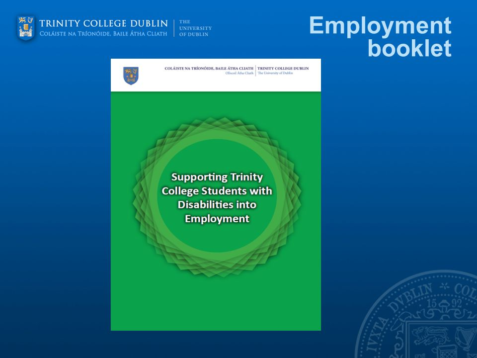 Employment booklet
