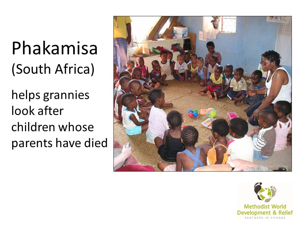 Phakamisa (South Africa) helps grannies look after children whose parents have died