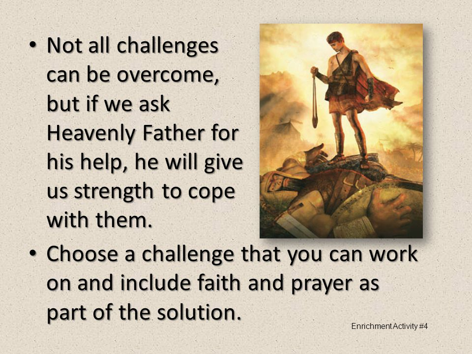 """Choose """"Goliaths,"""" or challenges, in your life you would like to overcome and write them on the giant. Choose """"Goliaths,"""" or challenges, in your life"""