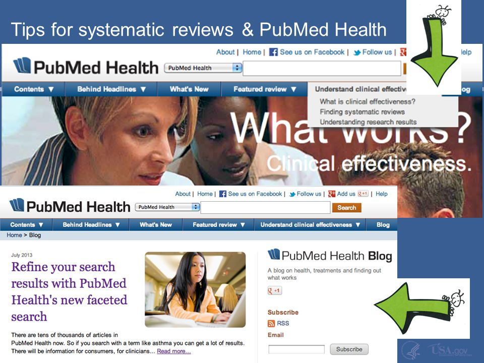 Tips for systematic reviews & PubMed Health