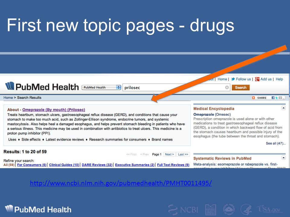 First new topic pages - drugs http://www.ncbi.nlm.nih.gov/pubmedhealth/PMHT0011495/