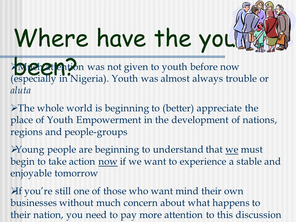 Deciding for Nation Building  Let's face it, an average young Nigerian cares more about what he gets, over what he gives.