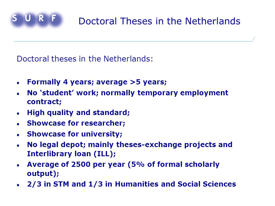 DARE: Digital Academic REpositories Mission: Better access to results of publicly funded academic research Period: 2003-2006 Budget: M€ 5.9, of which M€ 2 from national government The Players: ALL universities in the Netherlands, KNAW, NWO, KB Coordinated by SURF