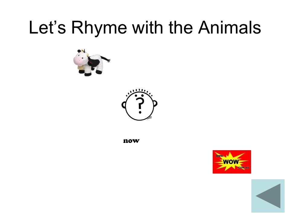 Let's Rhyme with the Animals now