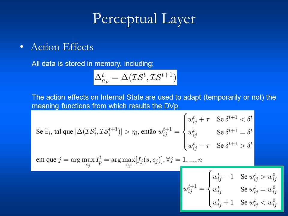 Perceptual Layer - Results 20 Simulations, 500 cycles of 5 seconds Number of Internal State Changes Mean of Maximum Unbalance