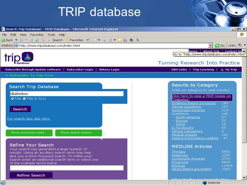 TRIP database