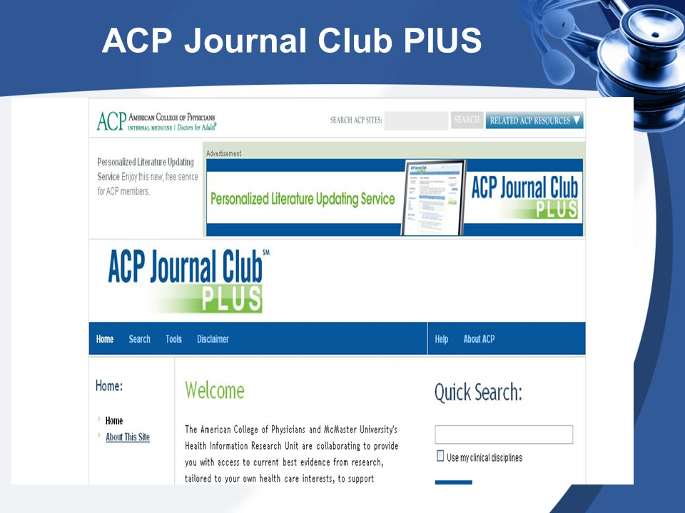 ACP Journal Club PlUS