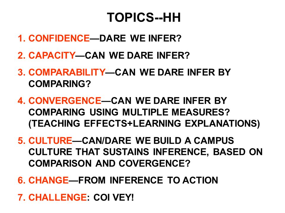 PHASE 1: CONFIDENCE.A SYLLOGISM FOR TNE--HH.
