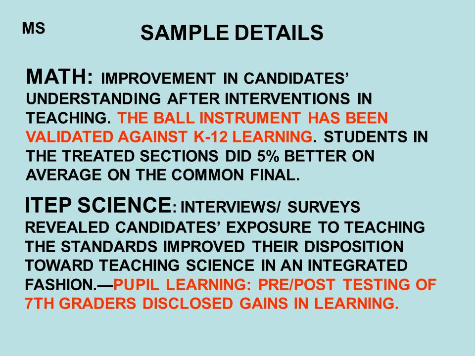MATH: IMPROVEMENT IN CANDIDATES' UNDERSTANDING AFTER INTERVENTIONS IN TEACHING.