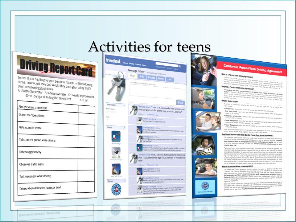 Activities for teens
