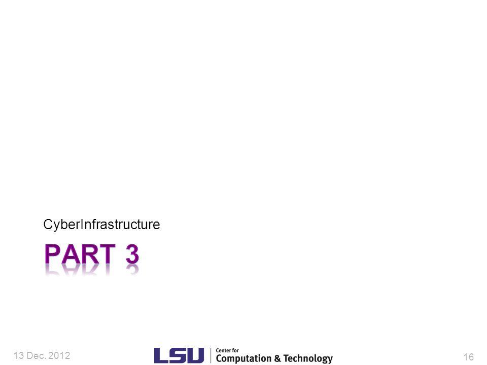 CyberInfrastructure 13 Dec. 2012 16