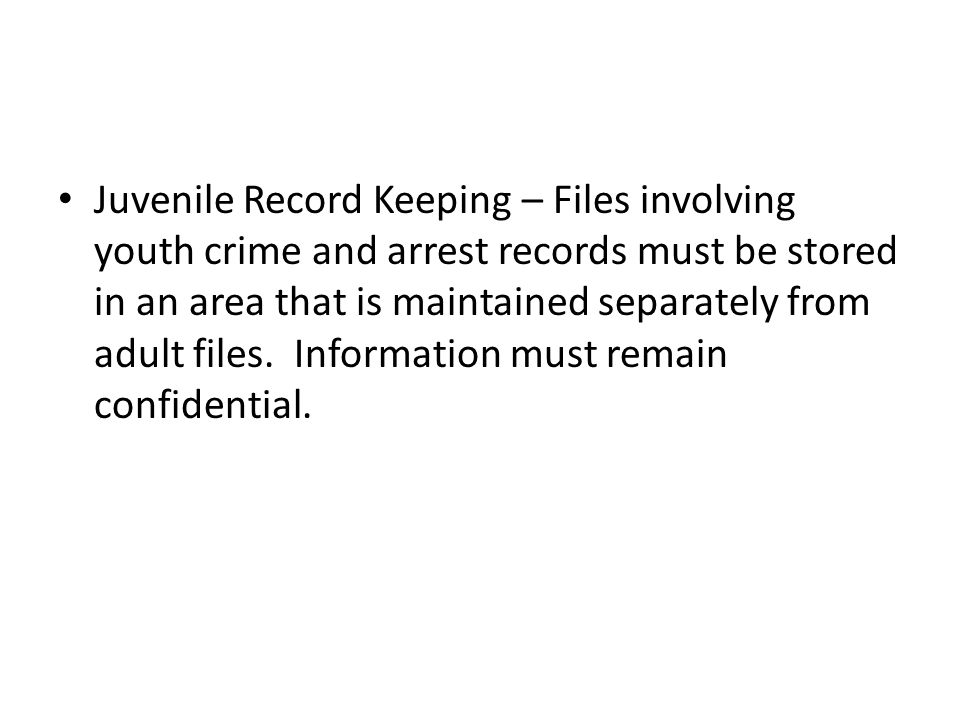 Juvenile Units Responsibilities – Investigation of juvenile cases.