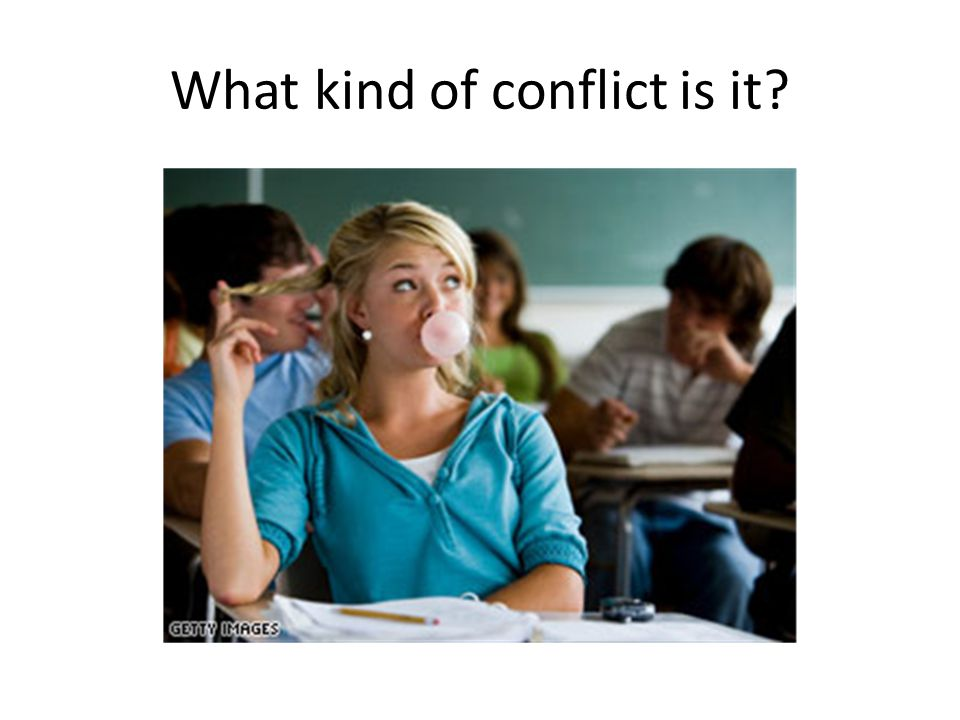 What kind of conflict is it?