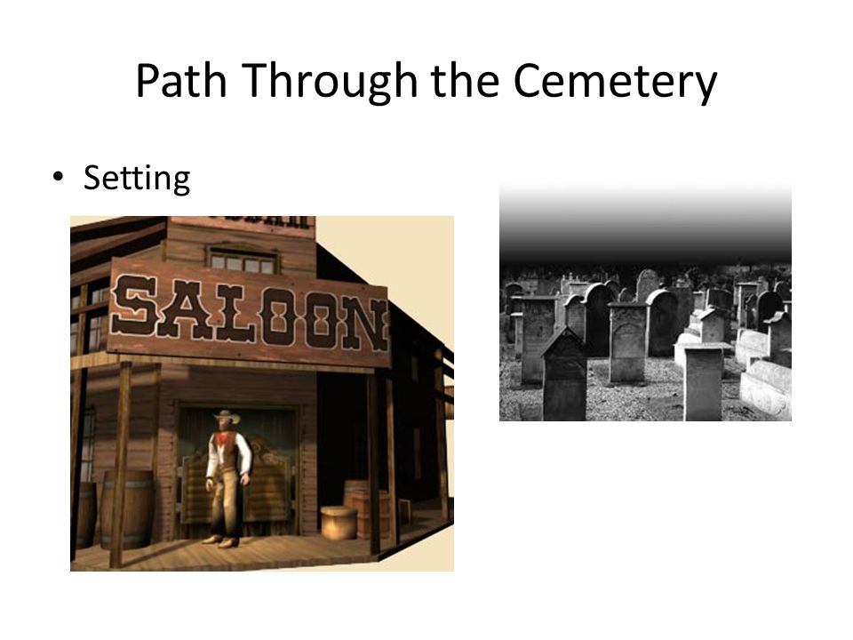 Path Through the Cemetery Setting