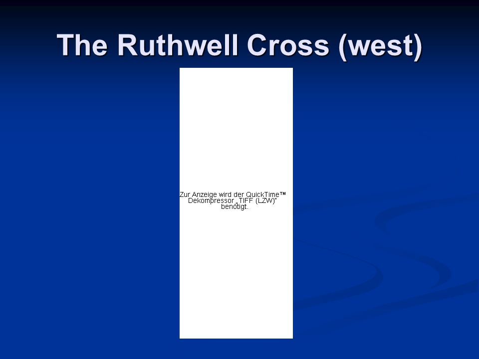 The Ruthwell Cross (west)