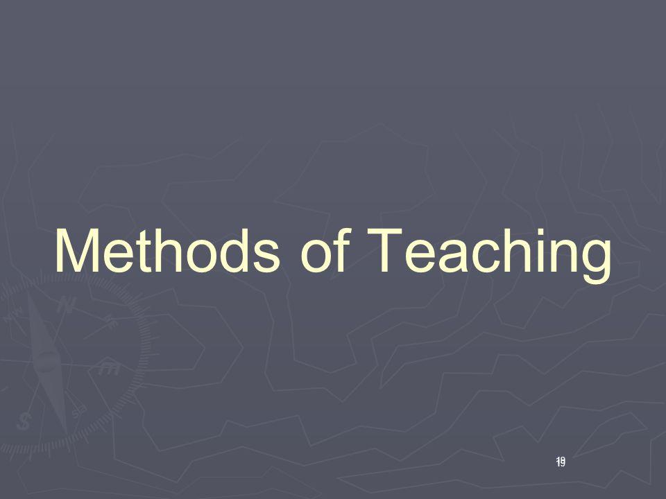 19 Methods of Teaching 19
