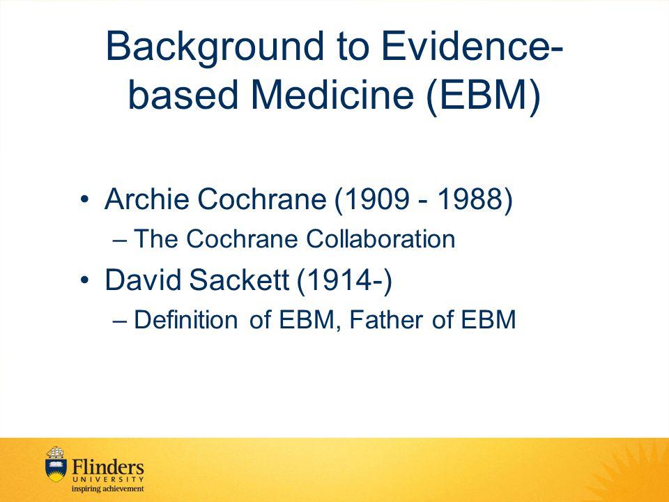 Types of Databases Bibliographic/General eg Medline PubMed Specialist Databases –ERIC –CINAHL –PsyInfo