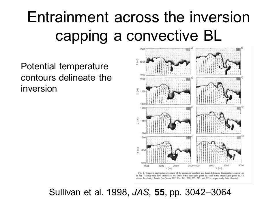 Entrainment across the inversion capping a convective BL Sullivan et al.