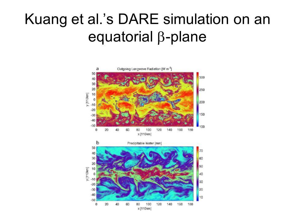 Kuang et al.'s DARE simulation on an equatorial  -plane