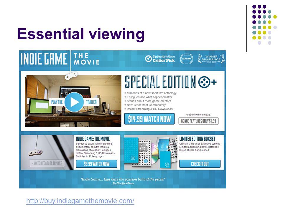 Essential viewing http://buy.indiegamethemovie.com/