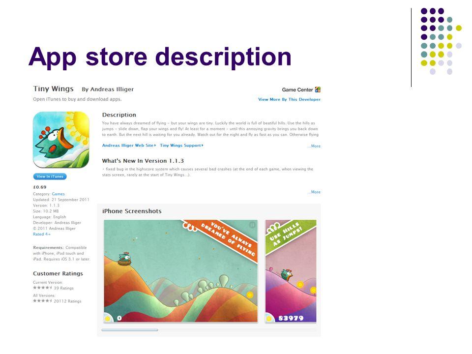 App store description