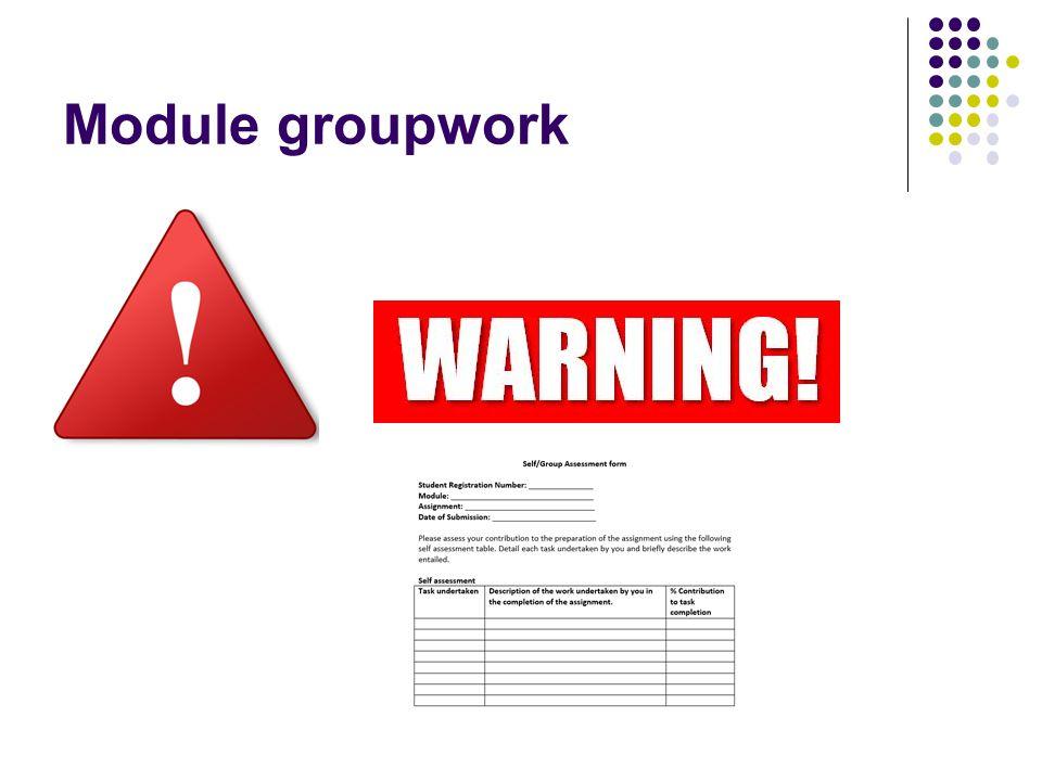 Module groupwork