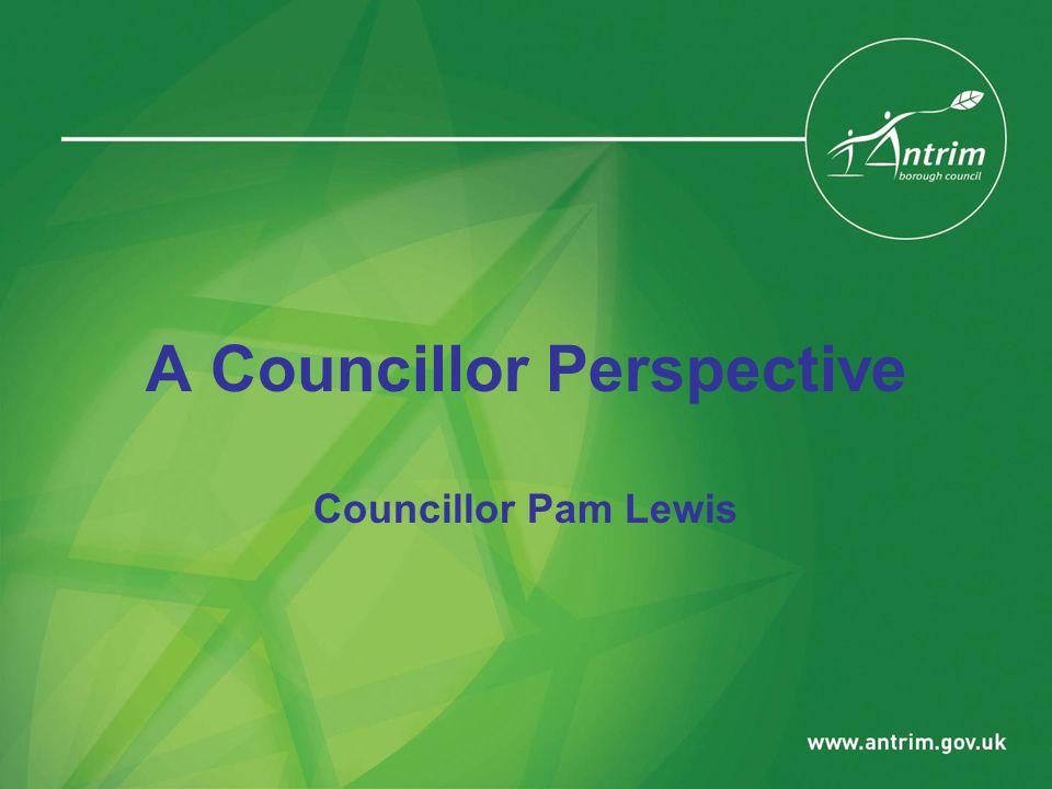 A Councillor Perspective Councillor Pam Lewis
