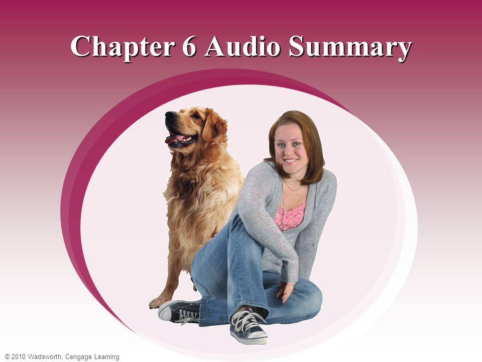© 2010 Wadsworth, Cengage Learning Chapter 6 Audio Summary