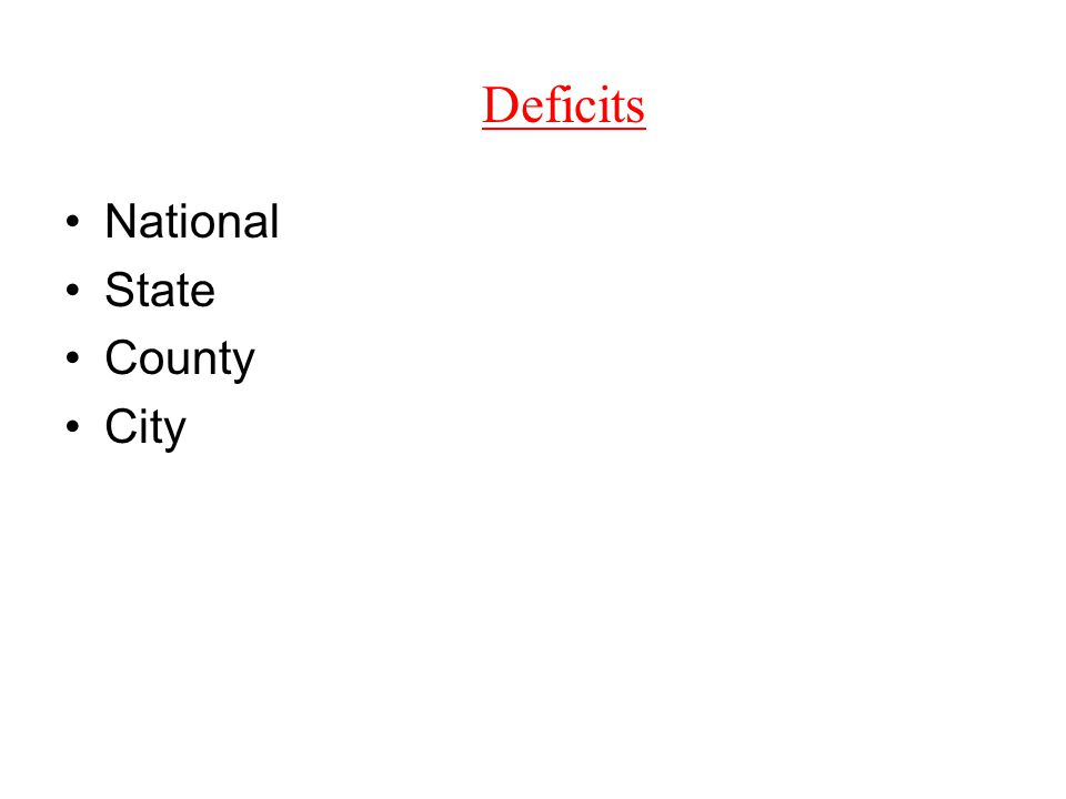 Deficits National State County City
