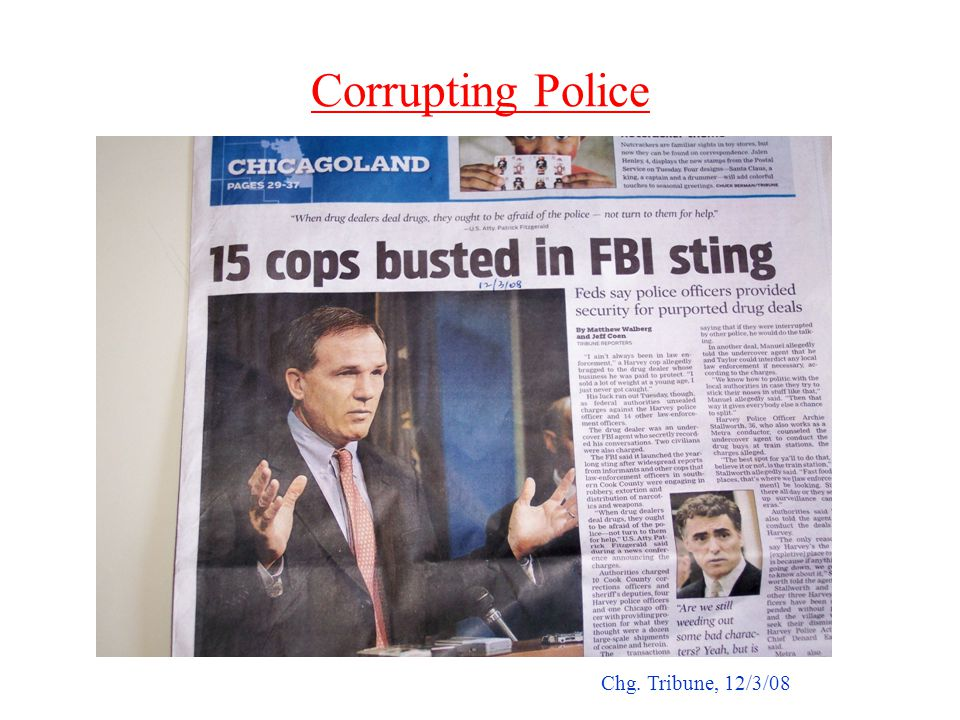 Corrupting Police Chg. Tribune, 12/3/08