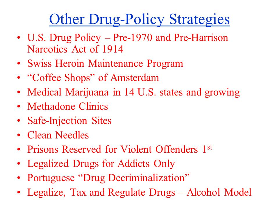 Other Drug-Policy Strategies U.S.