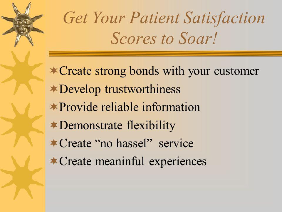 Get Your Patient Satisfaction Scores to Soar.