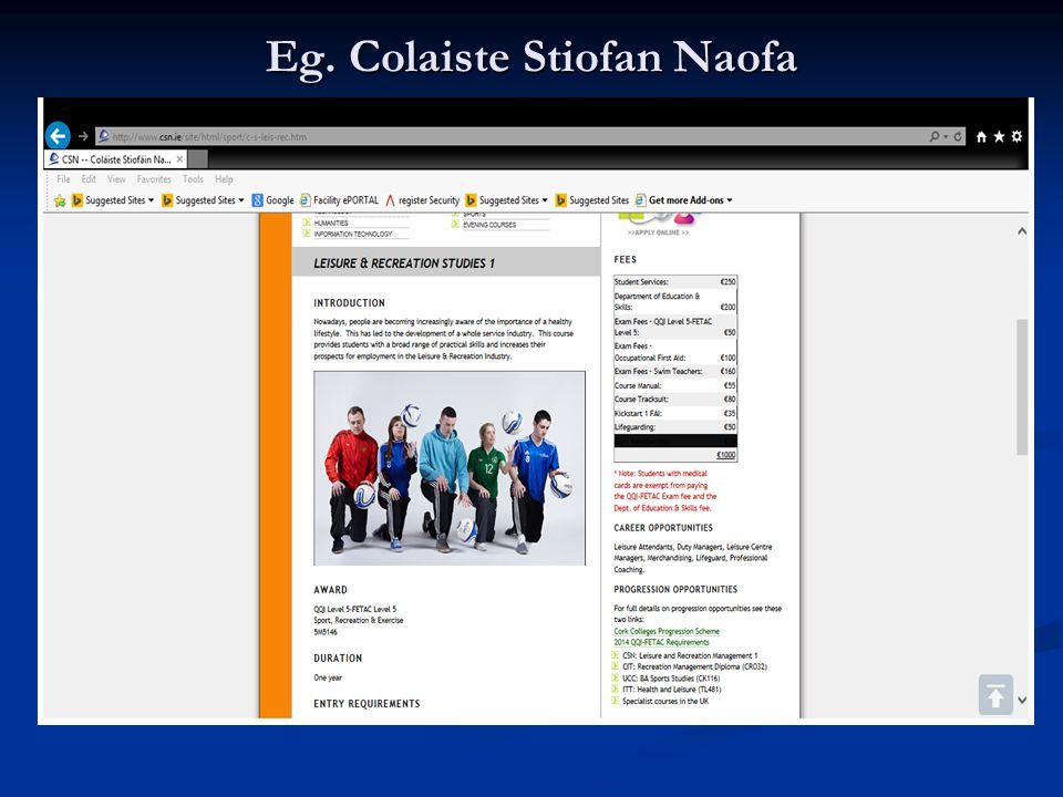 Eg. Colaiste Stiofan Naofa