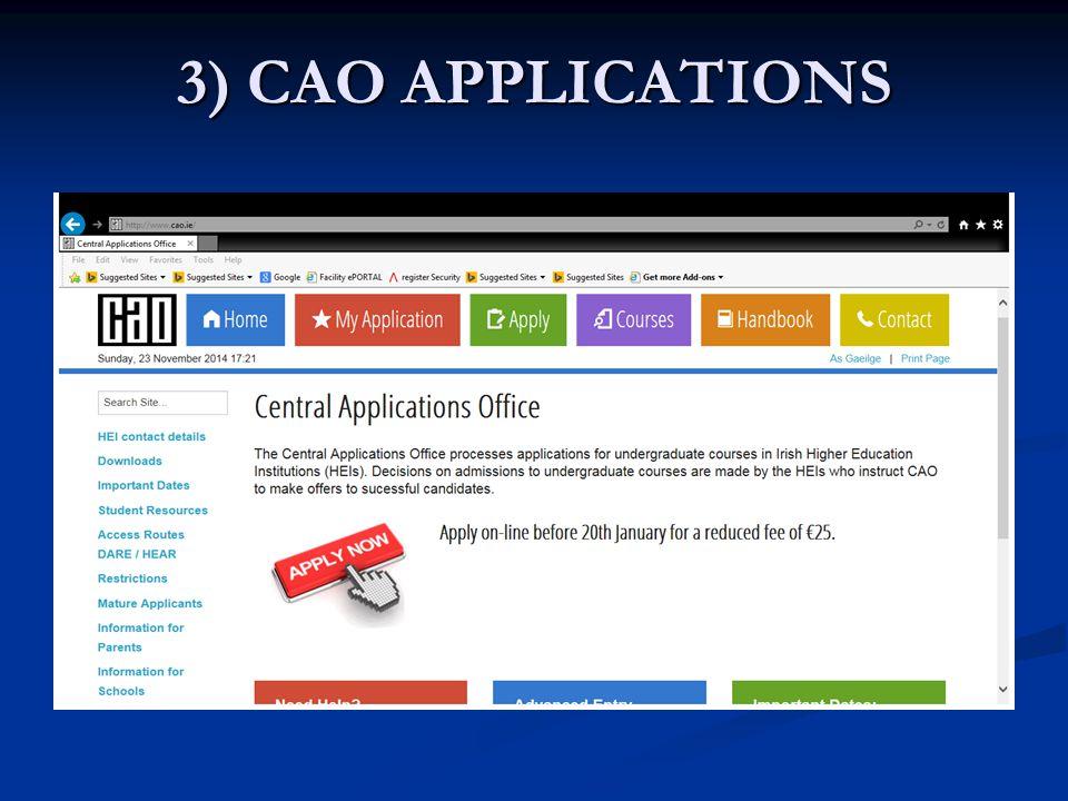 3) CAO APPLICATIONS