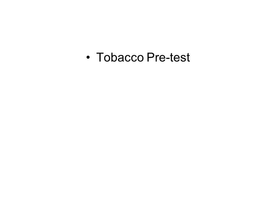 Tobacco Pre-test