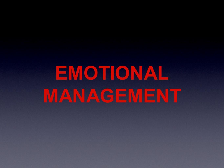 EMOTIONAL MANAGEMENT