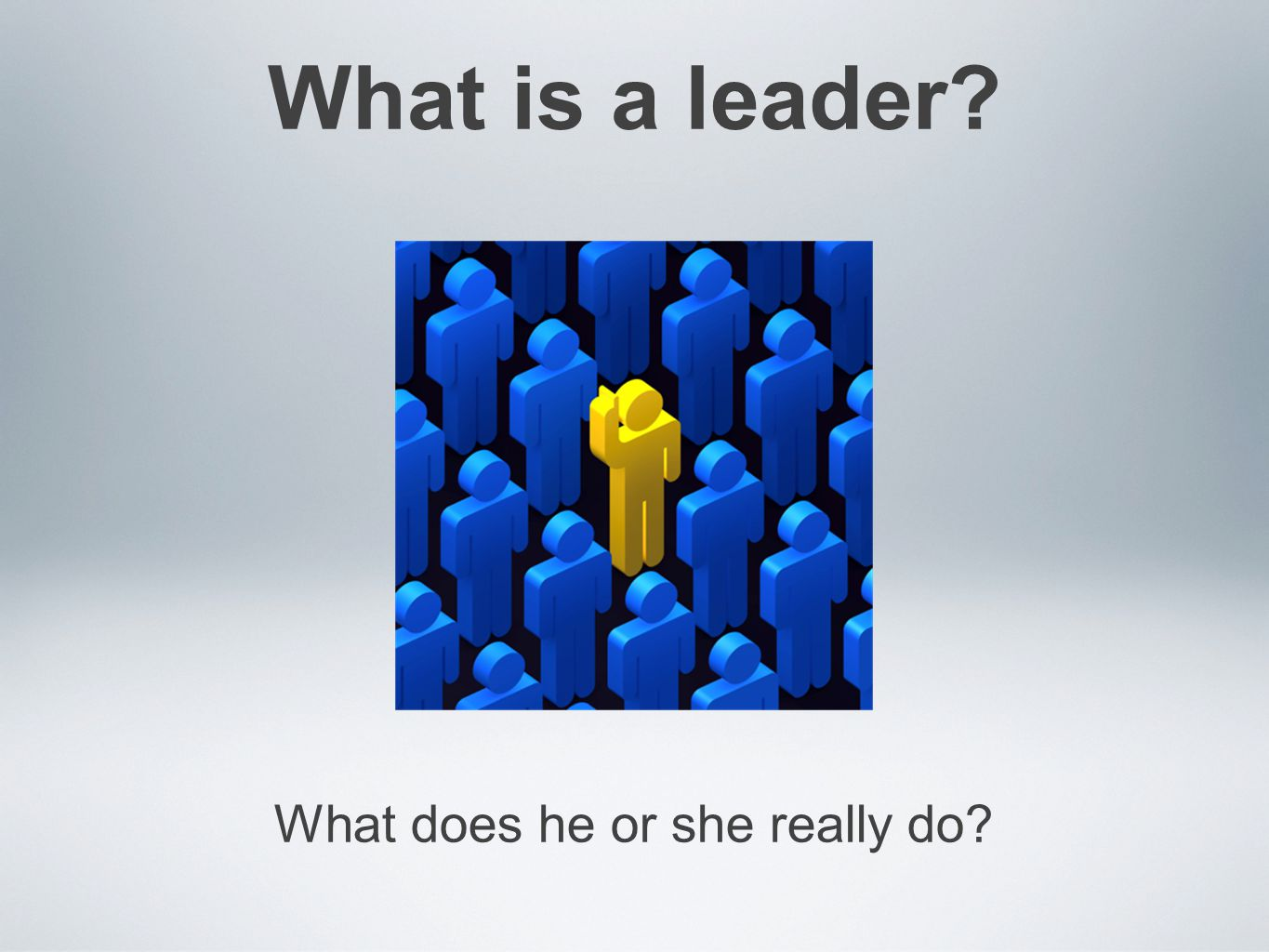 What is a leader? What does he or she really do?