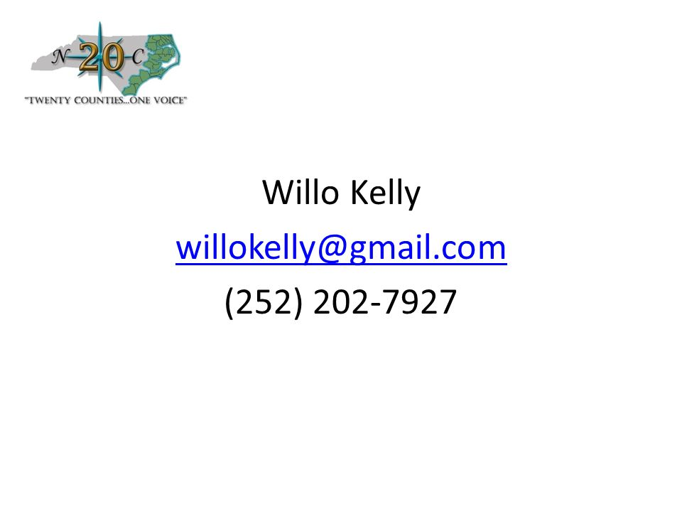 Willo Kelly willokelly@gmail.com (252) 202-7927