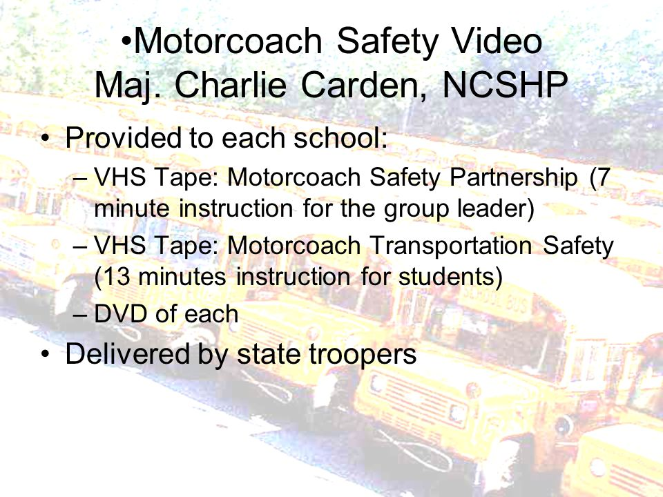 Motorcoach Safety Video Maj.