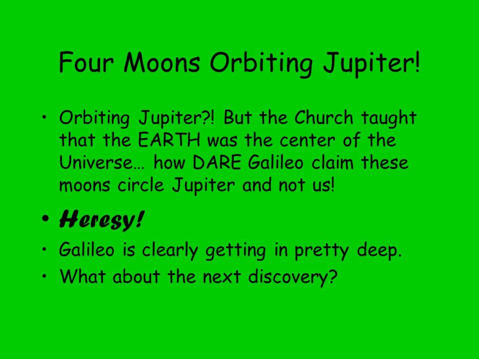 Four Moons Orbiting Jupiter. Orbiting Jupiter .